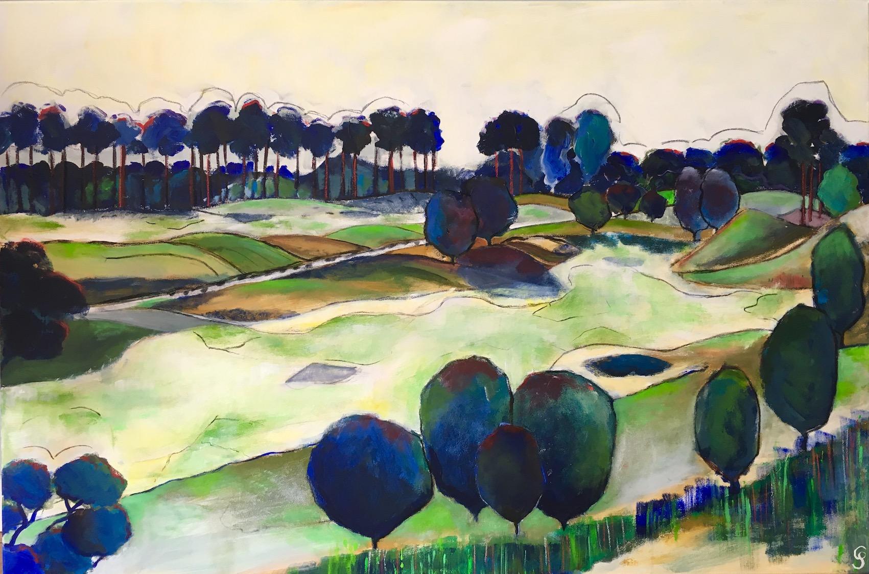 Haagse Duinen, 120x80cm, in opdracht van Claire & Paul
