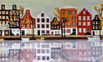 Panorama Amsterdamse Grachten XL