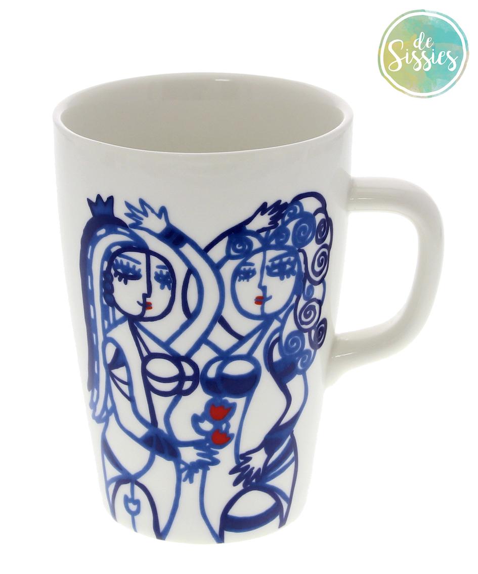 Sissies koffiemok groot blauw