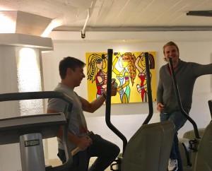 Michiel & Jordi bij de Fitness Sissies