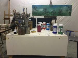 In het open atelier